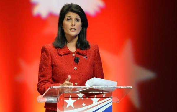 United States' UN Ambassador, Nikki Haley. Is the Noah of the UN