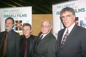 From Left: Don Krim, Meir Fenigstein, Paul Schrader and Elliot Gould.