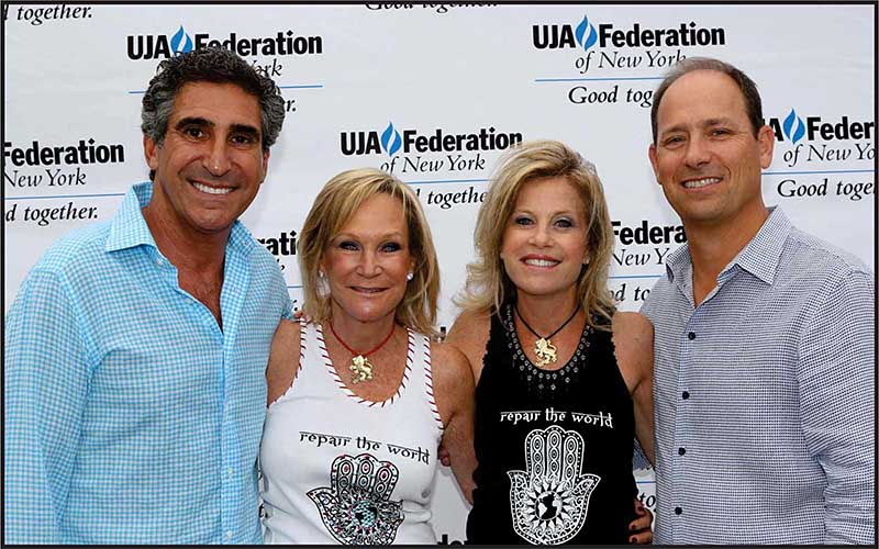 From left: Jay and Annie Gilbert with Joyce and Philip Sharfstein, Chairs of UJA-Federation's New Leadership Campaign.