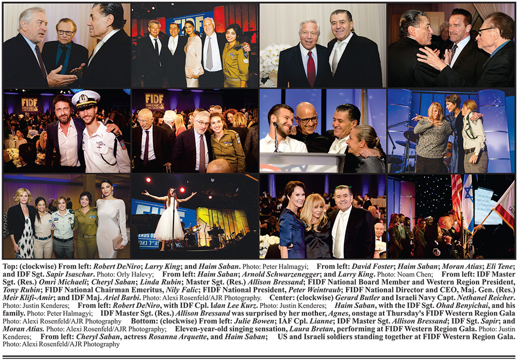 DeNiro, Schwarzenegger, Larry King and 1,200+ Gather for FIDF Western Region Gala, Chaired by Cheryl and Haim Saban