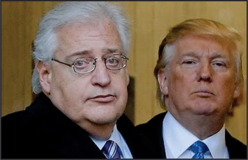 David M. Friedmanm, new US Ambassador nominee to Israel (lefl), with President Elect, Donald Trump.