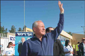 Dichter in Ashqelon at Kadima�s primaries. Photo: Eliahu Ben Igal/Jini Agency for Israel Sun