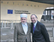 Grand Mufti, Dr. Mustafa Ceric (left), and Rabbi Marc Schneier, at EC headquarters, Brussels. Photo: Michael Thaidigsmann/WJC