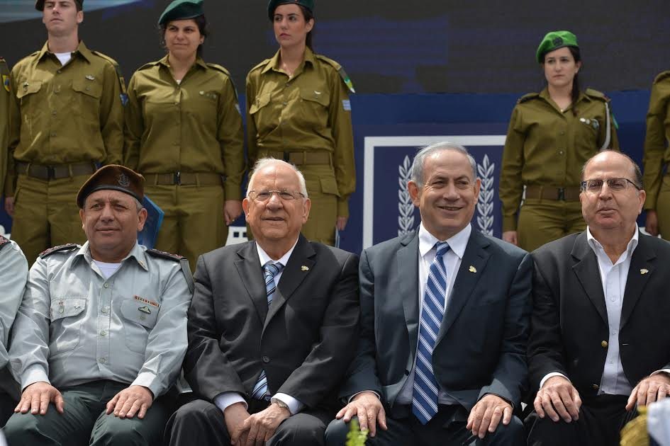 Israel President, Reuven Rivlin, and Prime Minister, Benjamin Netanyahu, host and award 120 outstanding IDF soldiers. Photo: Kobi Gideon/GPO for Israel Sun