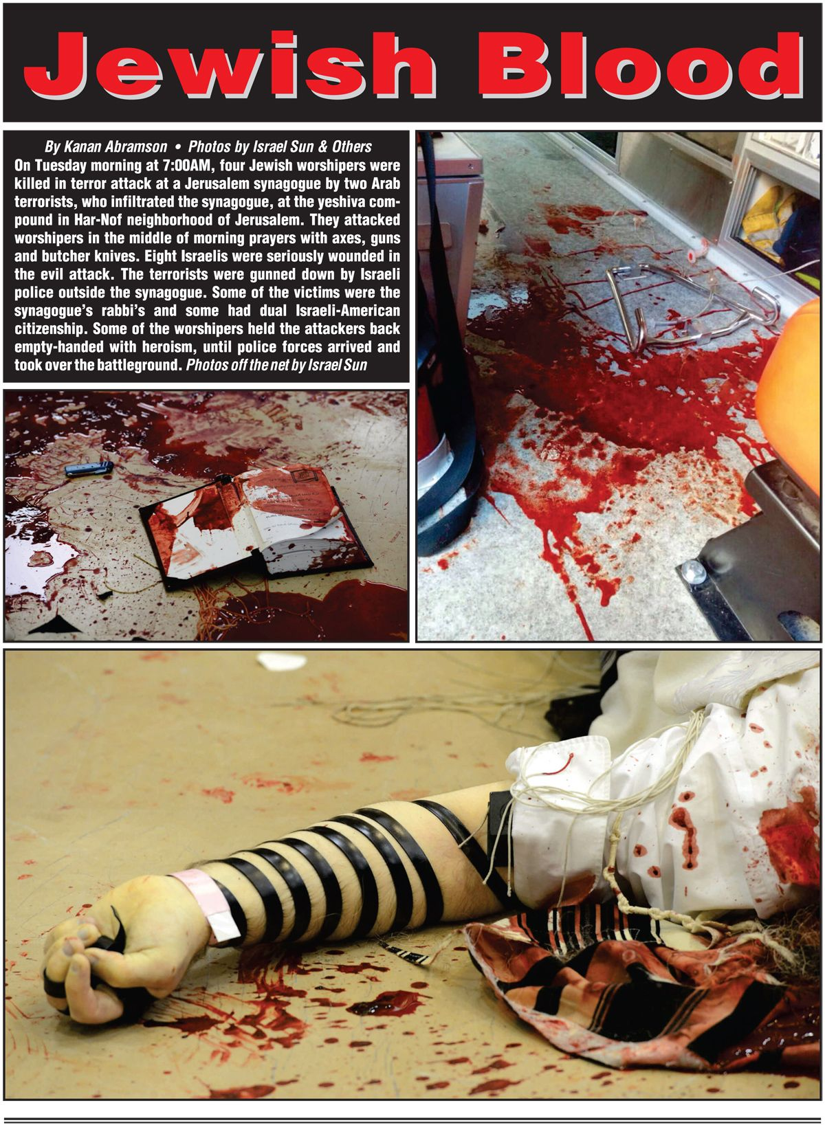 Jewish Blood in Synagogue