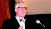 Glenn Beck, TV/radio host, commentator and author and recipient of the Defender of Israel Award.