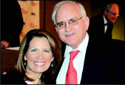 Presidential candidate, Rep. Michele Bachmann, with Jewish Post publisher, Henry Levy.