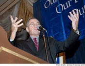 Keynote speaker, Alan Dershowitz, addresses the Real Estate luncheon