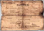 The exit pass issued to Robert Lazar Rousso by the Gestapo in Paris with the help of Turkish Ambassador to France, Behic Erkin, saved his life.