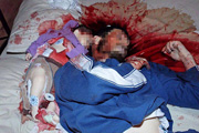 Fogel family butchered in bed. Photos: Miri Tsachi/Israel Sun