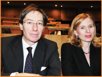 German UN Ambassador, Peter Wittig, and  his wife.  General Assembly Hall, under the direction of Maestro Isaak Tavior.  General Assembly Hall Concert Photo: Courtesy of the UN  People's photos: Gloria Starr Kins