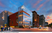 The new National Museum of American Jewish History in center city Philadelphia is located opposite the Liberty Bell Center and Independence Mall. (photo © Jeff Goldberg/Esto for Ennead Architects)
