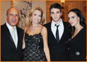 Benny Shabtai (left), with his attractive family. <br /> Photos by Gloria Starr Kins, Shahar Azran &amp; The FIDF