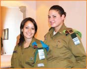 Two IDF female  soldiers became an attraction to the Americans in the audience. <br /> Photos by Gloria Starr Kins, Shahar Azran &amp; The FIDF