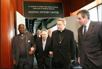 From left: Cardinal Peter Turkson, Archbishop of Cape Coast, Ghana; Dr. Bernard Lander, founder and president of Touro College; Cardinal Vingt-Trois, Archbishop of Paris; and Dr. David G. Marwell, Director of the Museum of Jewish Heritage � A Living Memorial to the Holocaust.   Photo: AP/Museum of Jewish Heritage and Touro College, Diane Bondareff