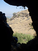 A cave in the Golan Heights
