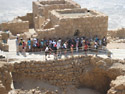Ancient ruins on top of Masada