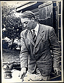Mr. Knud Christiansen pictured at his country home in Denmark (circa 1940).The home was later destroyed by the Nazis.