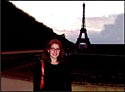 Jessica Levy-Lavelle at the Eifel Tower in Paris.