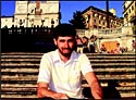 Patrick Levy-Lavelle at the Spanish Steps in Rome.
