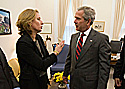 Tzipi Livni meeting with President George W. Bush
