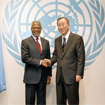 UN secretaries-general (left) Kofi Annan and Ban Ki Moon. Photo courtesy the UN.