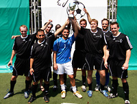 The winning team (Salvator Ferragamo) of the Soccer for Peace Cup.