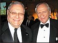 Stephen Joel Trachtenberg, President of George Washington University withNew York Times writer William Safire;