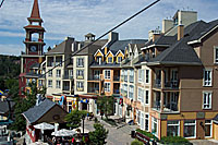 View of Tremblant village from the gondola.