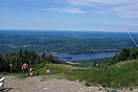 View of Laurentian Mountains from peak of Mont Tremblant.