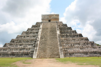 Chichen Itza Pyramid: The Temple of Kukulcan, or Quetzalcoatl, is known as