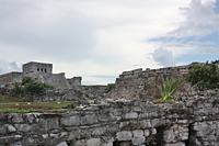 Ruins at Tulum: An archeological site of predominately religious temples, the ruins at Tulum, or