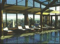 The state of the art spa at the top of the North Tower of the Panamericano Hotel & Resort in Buenos Aires.