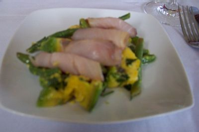Avocado, Green Beans and smoked marlin at Chef Jacqui Sinclair's home